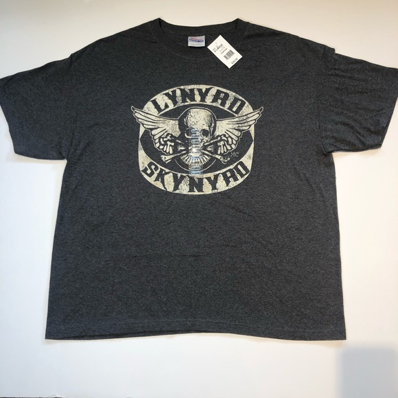 Lynyrd Skynyrd Men's Grey Band T-Shirt XL